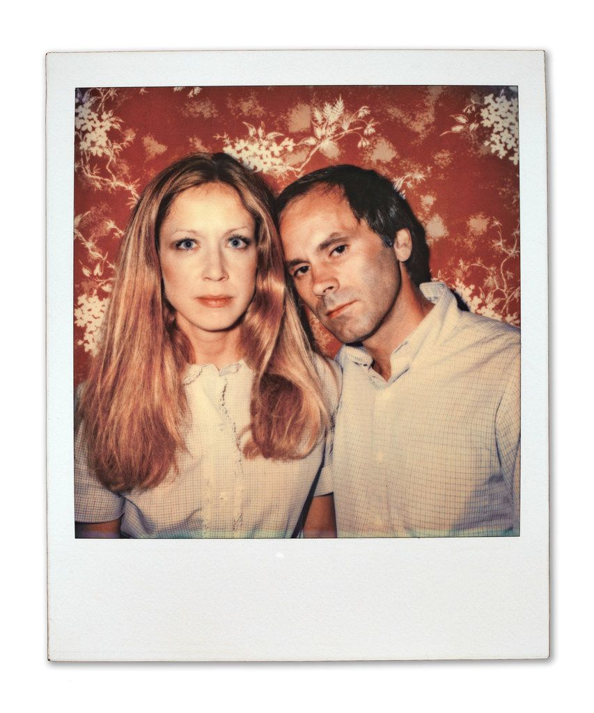 """In a time before the word """"selfie,"""" a color Polaroid of Carol Black, left, and artist Paul Black."""