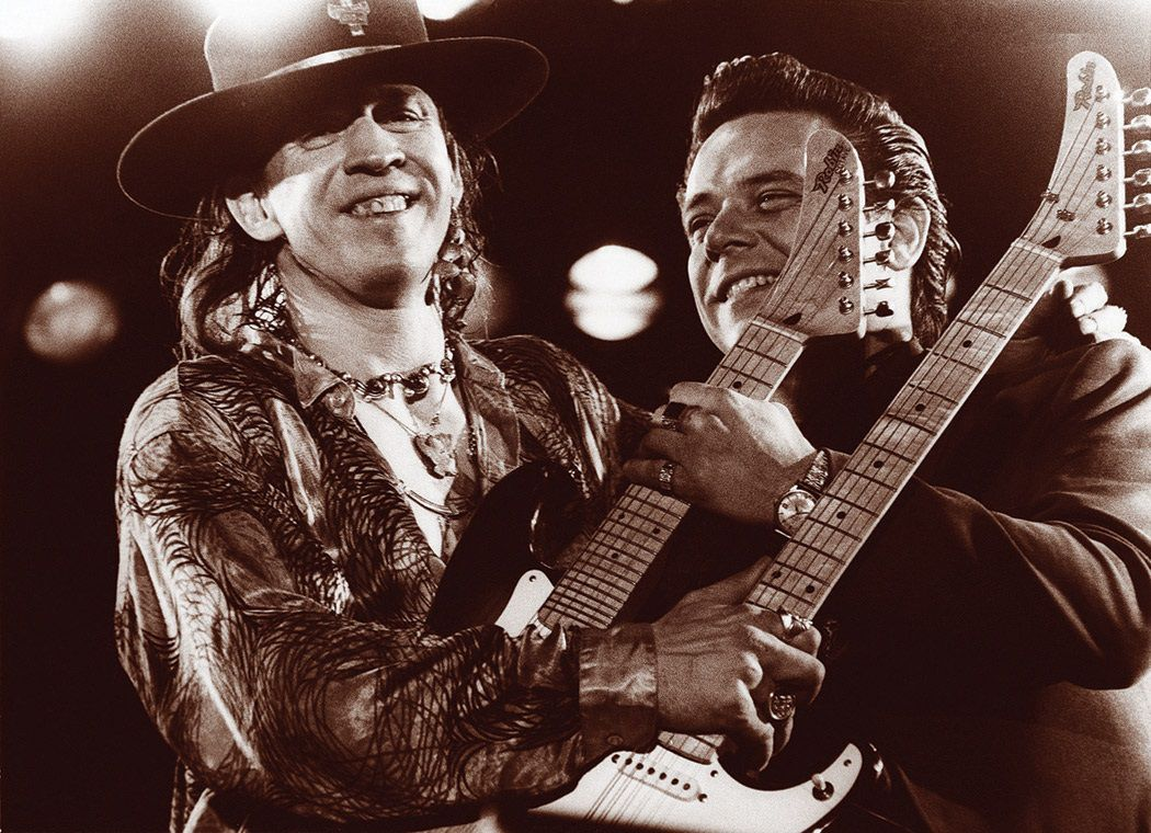 Stevie Ray Vaughan and older brother Jimmie (SRVOfficial.com)