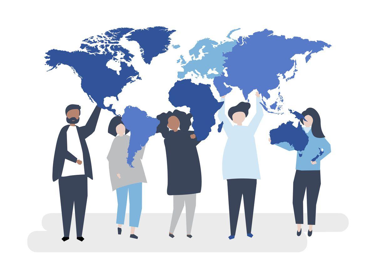 Character illustration of diverse people and the world se realizará el jueves y es gratuito. iSTOCK