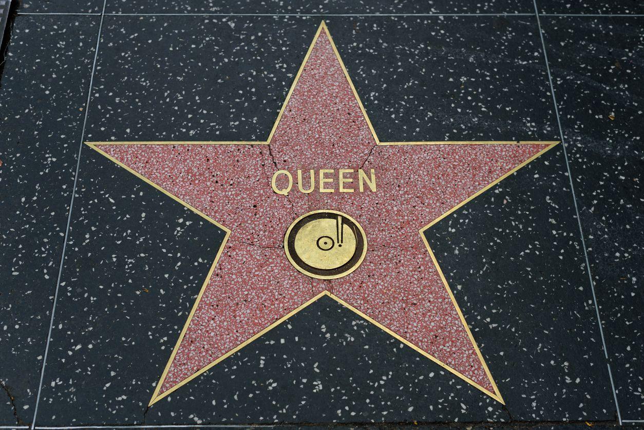La estrella de la banda Queen que Freddie Mercury encabezaba en Hollywood, California. iSTOCK