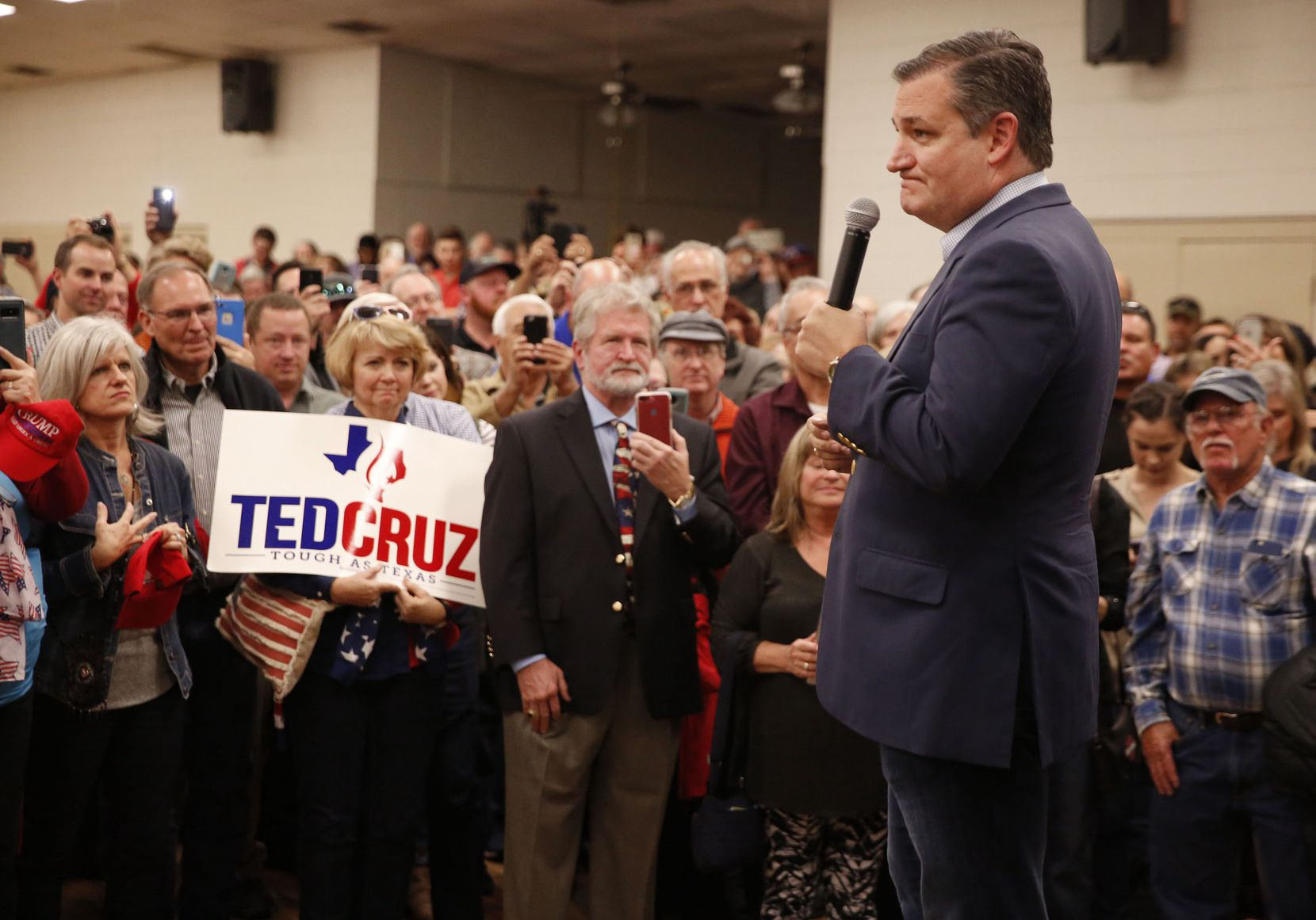 Sen. Ted Cruz speaks to supporters during a campaign rally at Sharon Shrine Center in Tyler on Thursday, Oct. 25, 2018.