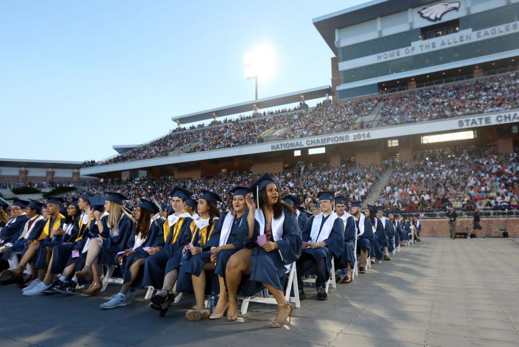 Allen High School graduation at Eagle Stadium in Allen, Texas, Friday evening, June 1, 2018. (Anja Schlein/Special Contributor)