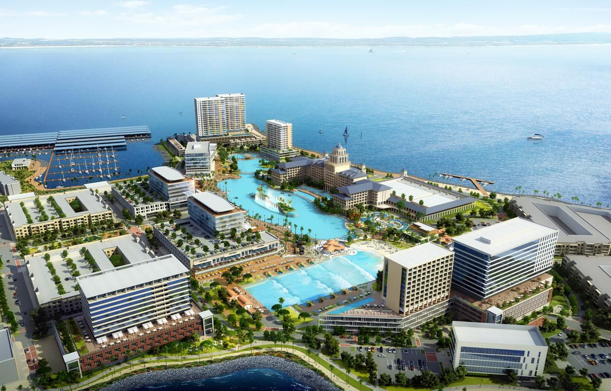A new developer, Sapphire Bay Land Development, unveilled plans Thursday, Aug. 8, for a $1 billion lakefront development in Rowlett, which will include a 6.5-acre Crystal Lagoon, a surf and beach club, and a 500-room resort hotel and conference center.
