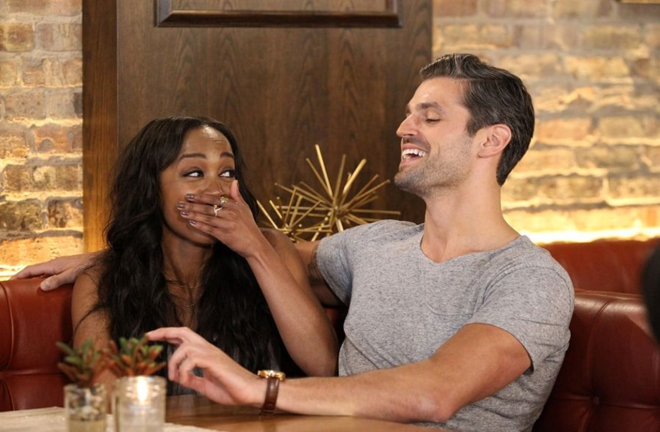 Rachel Lindsay and one of her current boyfriends, Peter Kraus, enjoy a casual evening in Madison, Wisconsin during a hometown date.