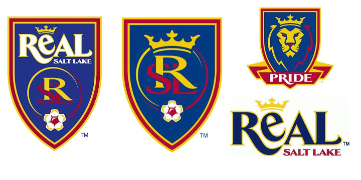 Real Salt Lake logos.