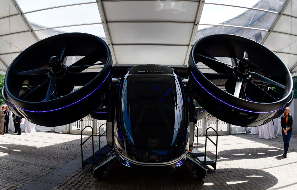 Fort Worth-based Bell is one of six companies that are designing a vertical take-off and landing vehicle for Uber's urban air taxi service. It showed off a prototype of its vehicle, the Nexus, at the Uber Elevate Summit in Washington, D.C.