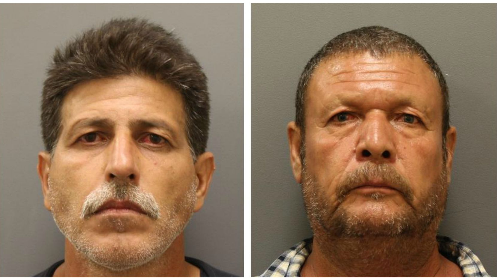 Jose Garcia, left, and Jose Barazza, 55, were arrested in connection with the incident Saturday.