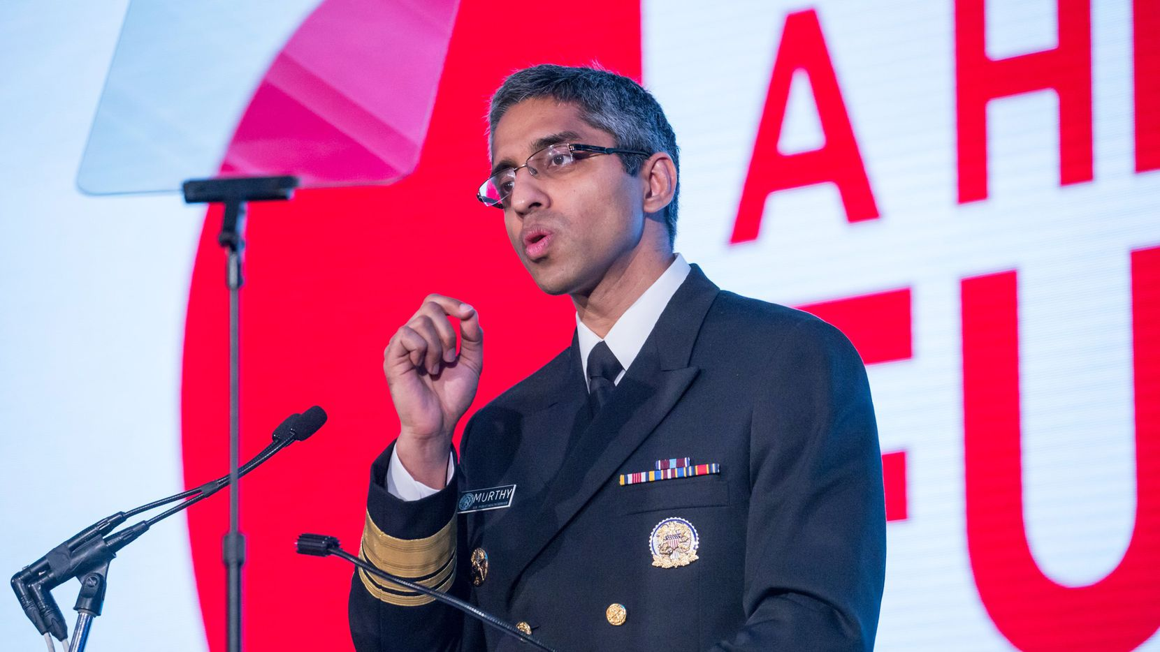 """U.S. Surgeon General Dr. Vivek H. Murthy speaks on May 20, 2016 at the Building a Healthier Future Summit in Washington, D.C. Murthy released a report Thursday calling for a """"cultural shift in how we think about addction."""" (Cheriss May/NurPhoto/Sipa USA/TNS)"""