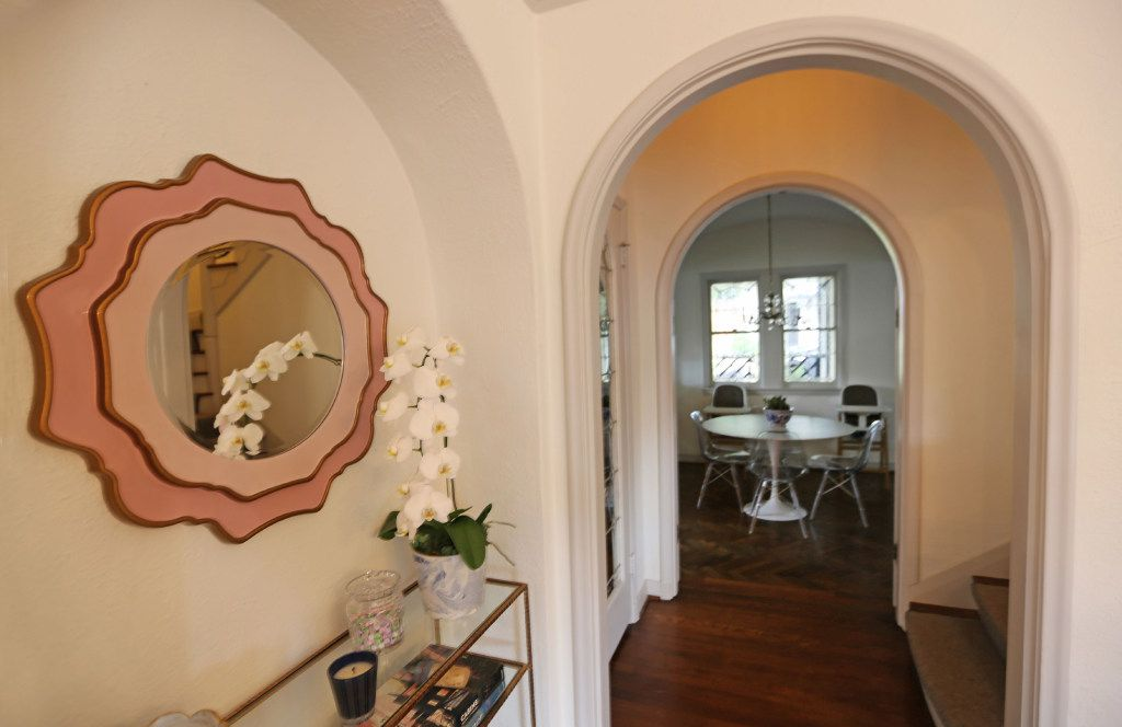 Archways fill the home at  6935 Lakeshore in Dallas.