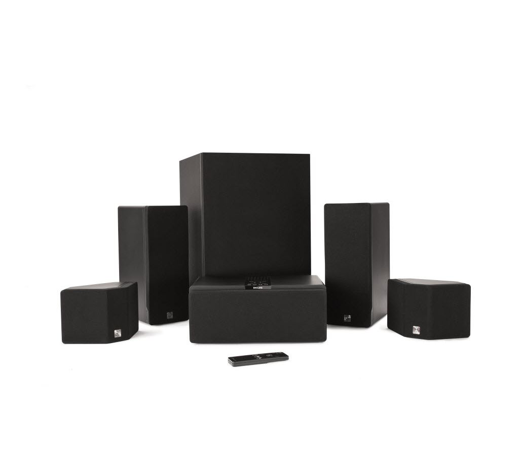 The CineHome HD wireless home theater system from Enclave Audio.