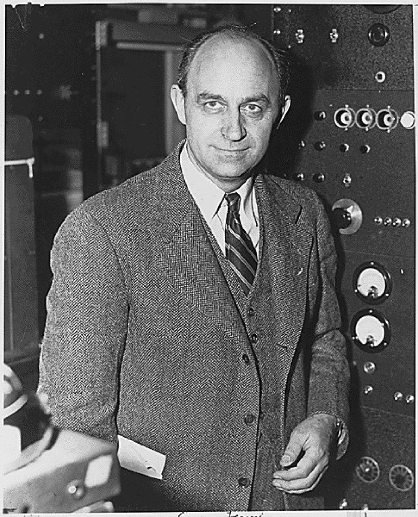 Physicist Enrico Fermi in a photograph probably taken between 1943 and 1946.