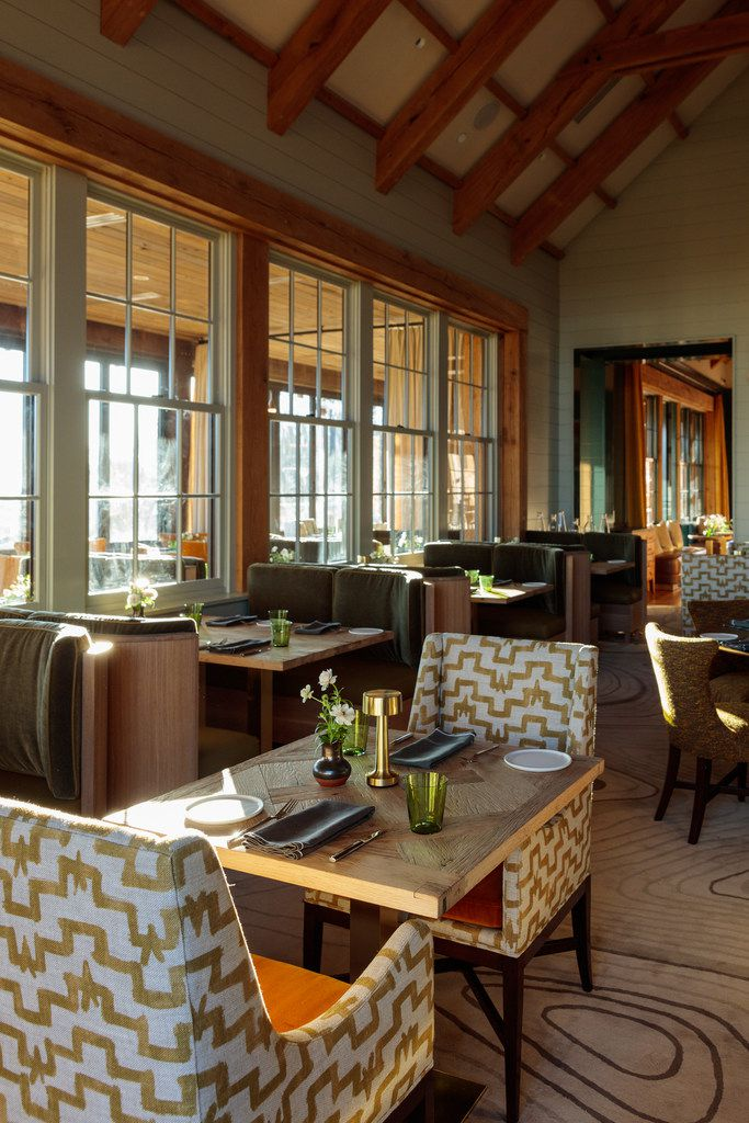 Three Sisters, the flagship restaurant in the main lodge at Blackberry Mountain, has a wellness menu big on international flavors.