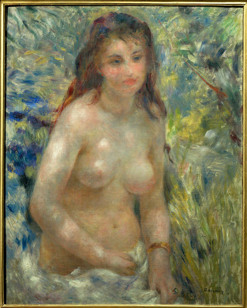 "Pierre-Auguste Renoir's ""tudy: Torso, Effect of Sun will be included in the an exhibition at the Kimbell Art Museum beginning this October."