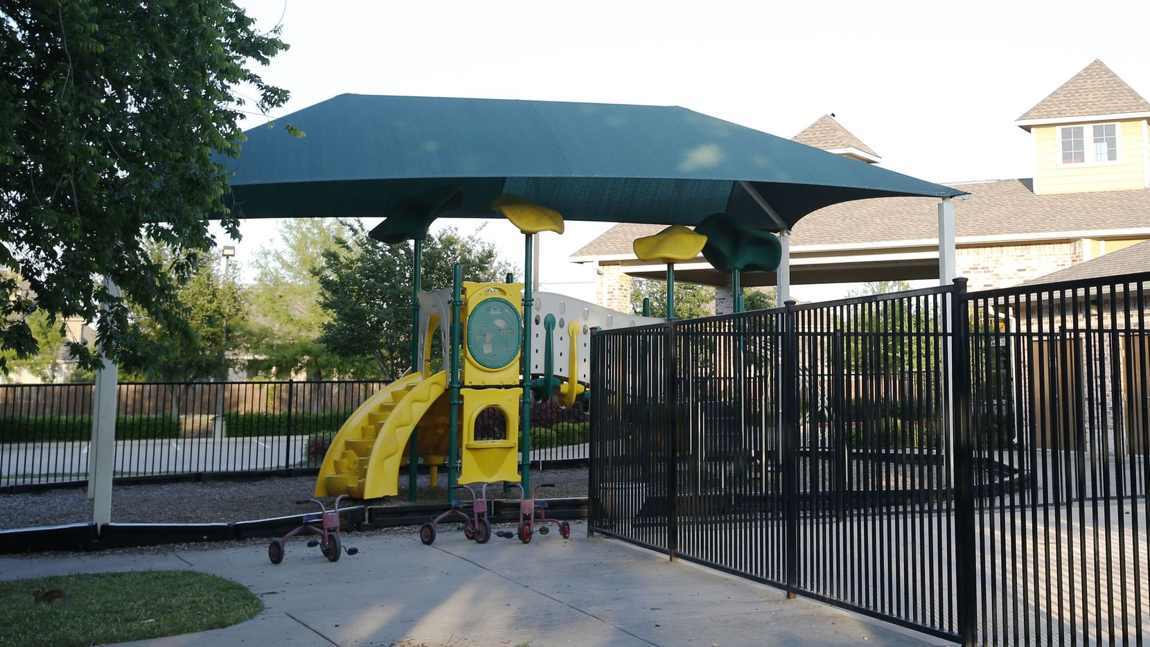 The playground at Joyous Montessori childcare center in McKinney. A former staff member has been indicted on eight counts of injury to a child during her work at the daycare center.