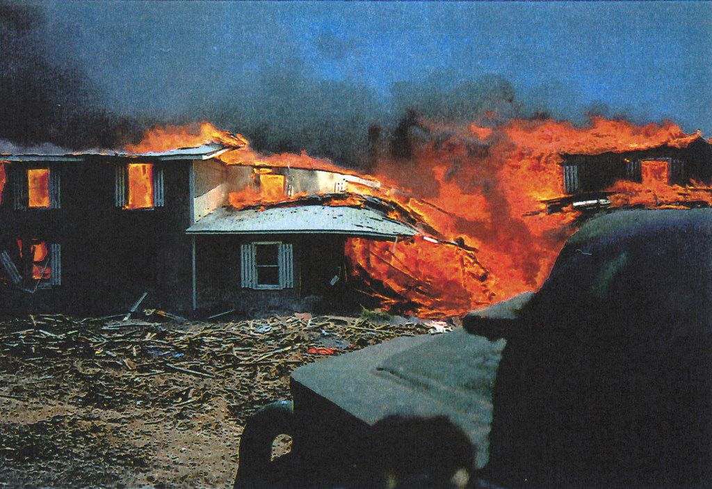 Government photographs of the standoff, siege and aftermath with the Branch Davidians near Waco.