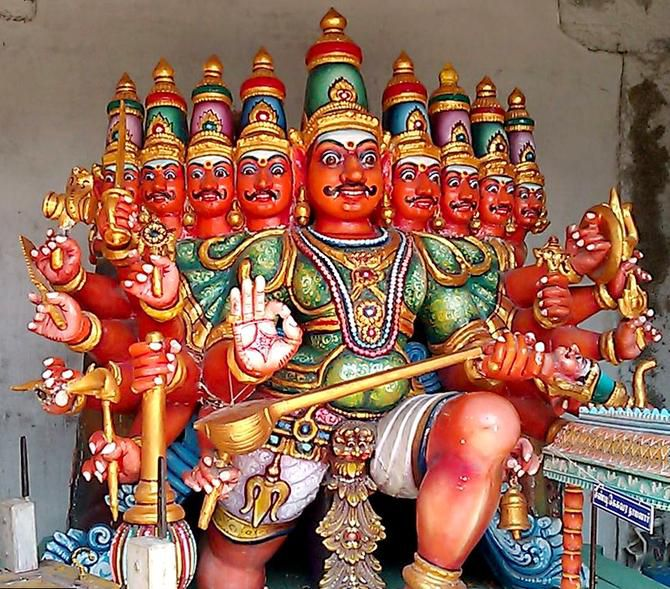A nine-headed statue greets visitors to Chennai's Parthasarathy Temple, one of the oldest structures in Chennai.