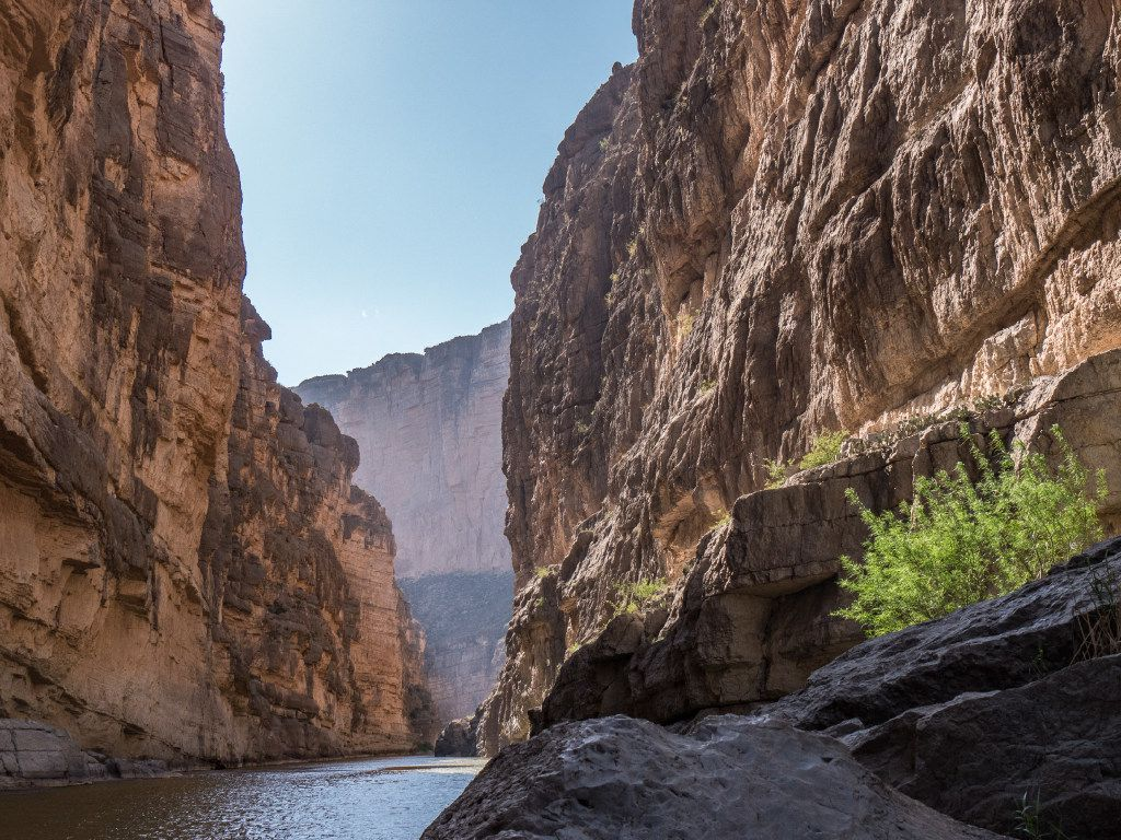 The mouth of Santa Elena Canyon, Big Bend National Park, Texas.