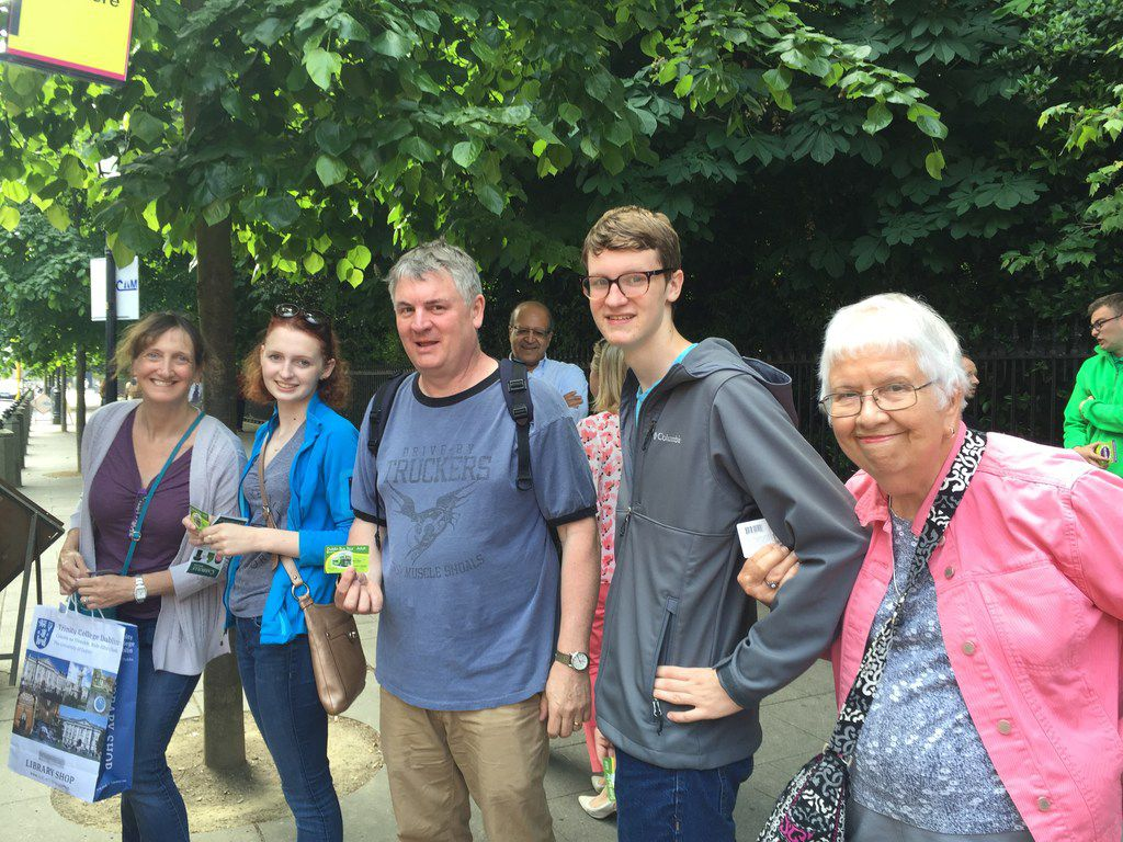 Suzanne Lewis of Plano photographed three generations of her family at St. Stephen's Green in Dublin in June 2016.