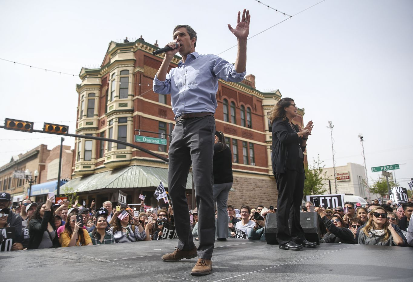 Beto O'Rourke speaks at a presidential campaign kickoff rally in downtown El Paso on Saturday, March 30, 2019.