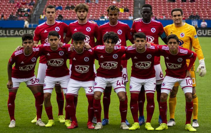 The North Texas SC starting XI against Orlando CIty B. (5-11-19)