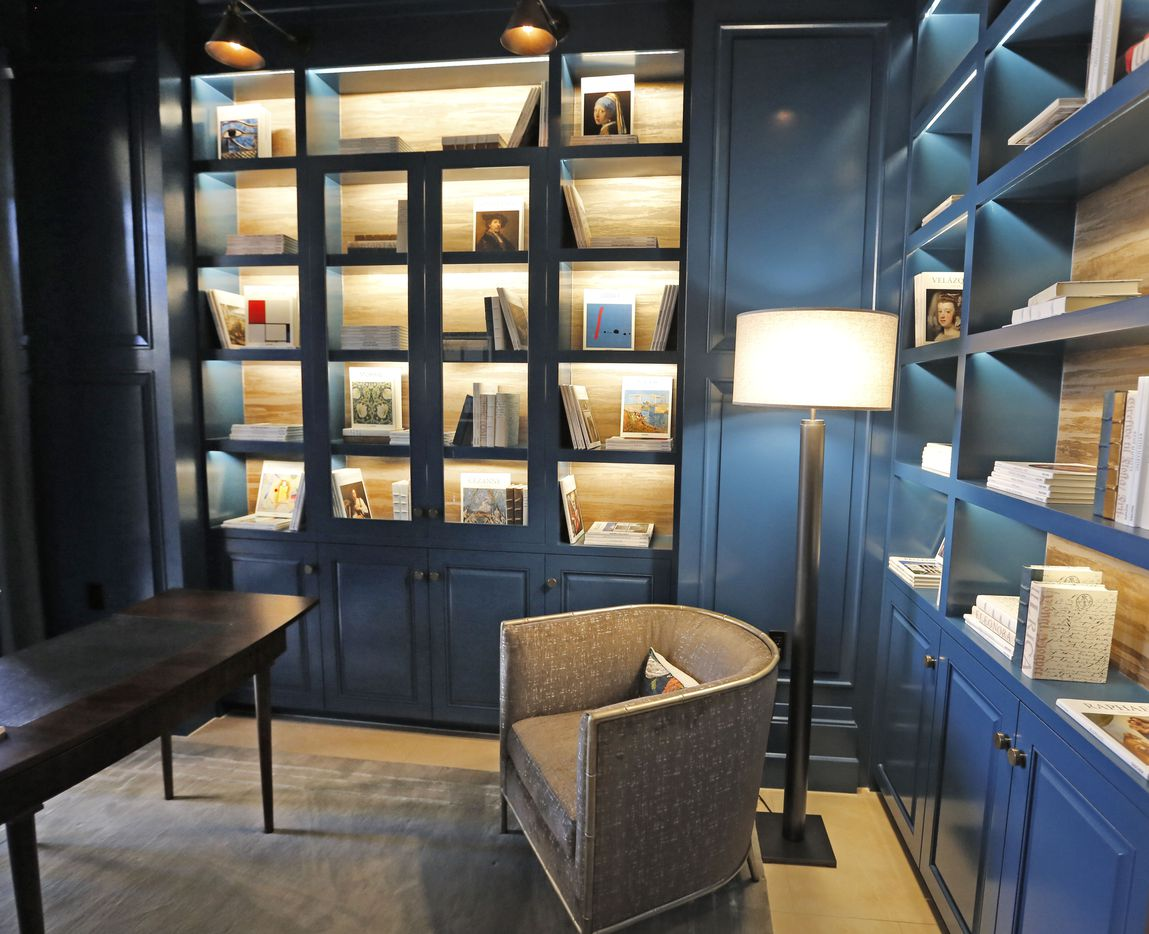 A look at the first-floor study at the McKenzie, a new luxury  residential tower on the edge of Highland Park.