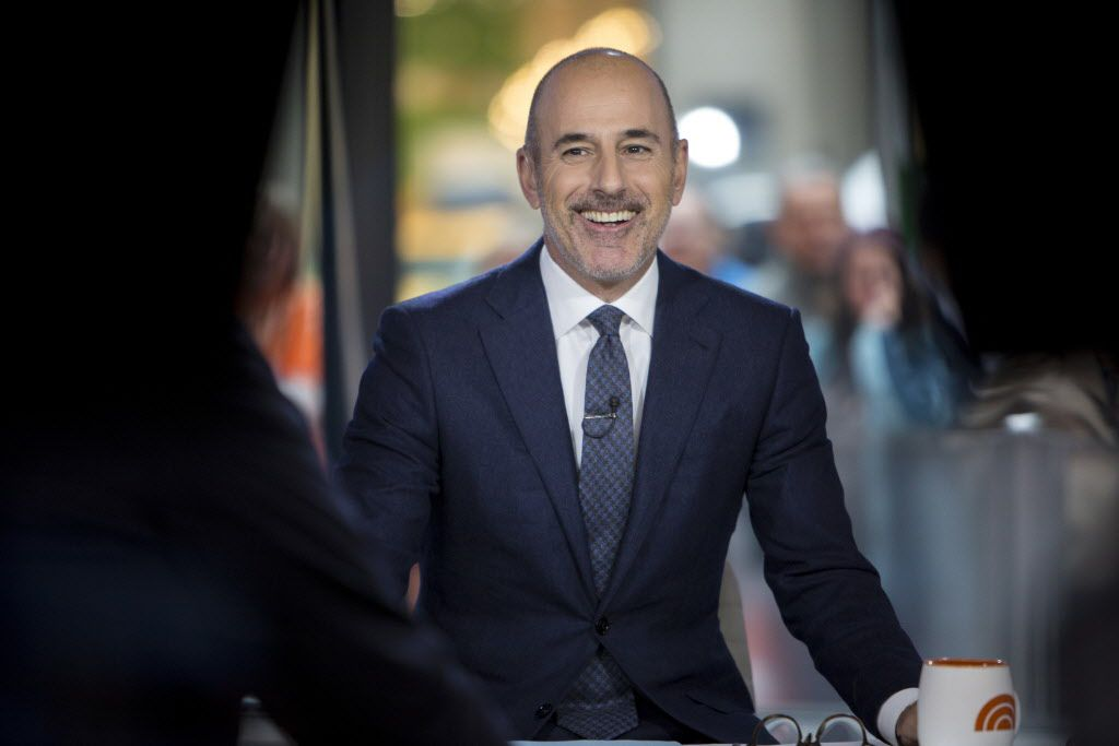 Matt Lauer during a broadcast of Today in New York earlier this month.