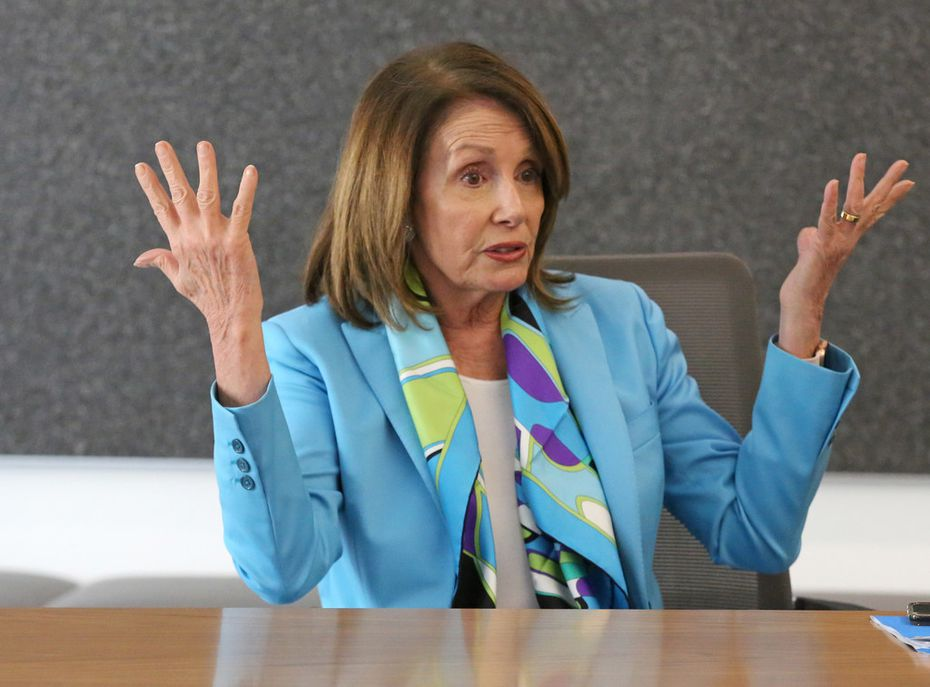 U.S. House Minority Leader Nancy Pelosi met with The Dallas Morning News' editorial board to discuss the Democrats' plan called the Better Deal on Friday, May 11, 2018, at the DMN offices in Dallas.