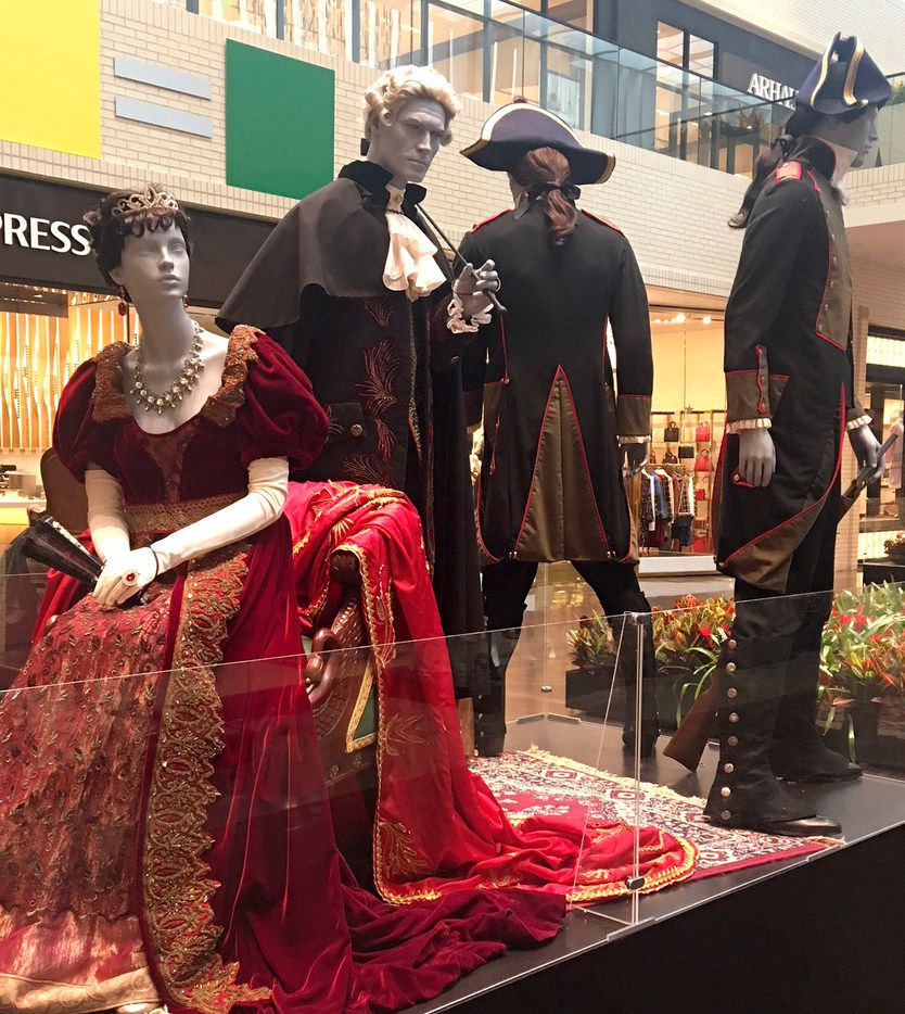 A photo of the exhibit 'The Fabric of Opera' at NorthPark Center