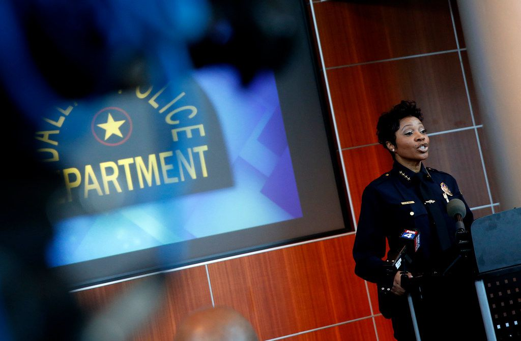 Dallas Police Chief U. Renee Hall spoke about the case at a news conference Thursday at police headquarters.