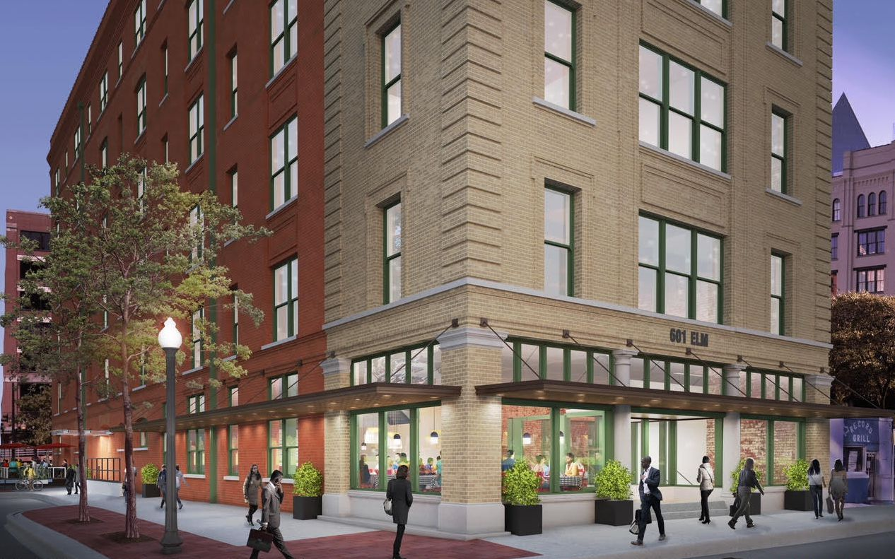 Developer Tanya Ragan is converting the empty Elm Street building into office space for tech and creative firms.