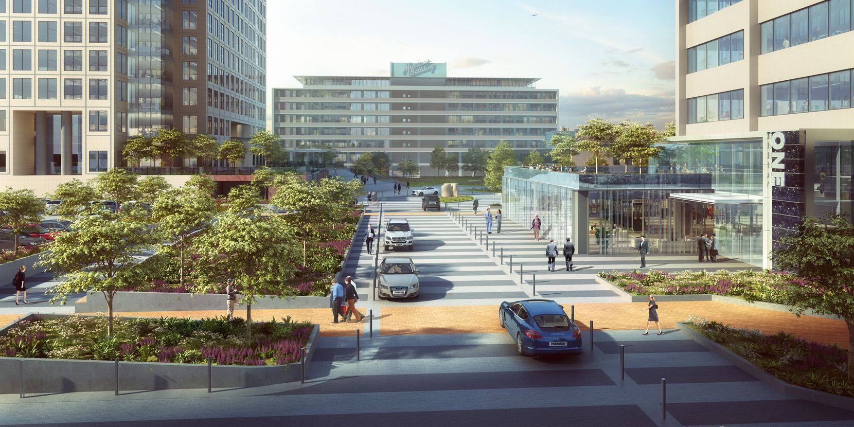 A central boulevard will provide access to all the buildings at Energy Square.