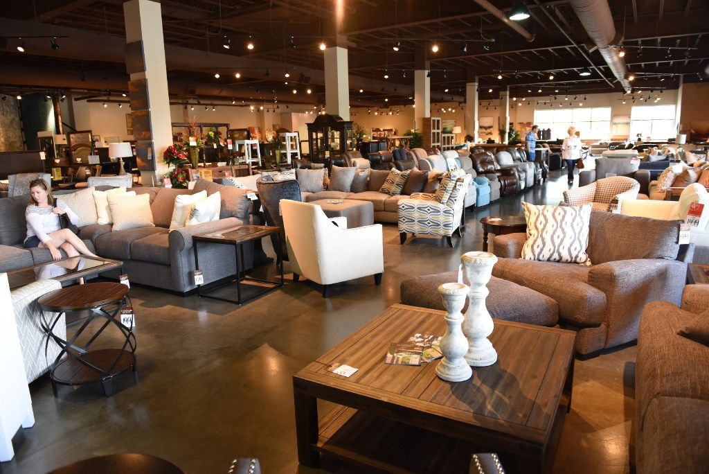 Interior of the Weir's Furniture Outlet store at 4800 Spring Valley Road in Farmers Branch. This store is turning into a full-line furniture store in early July.