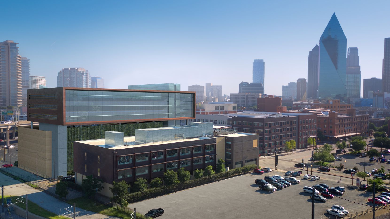 The new Luminary building was designed by architect Corgan who will also occupy part of the project.