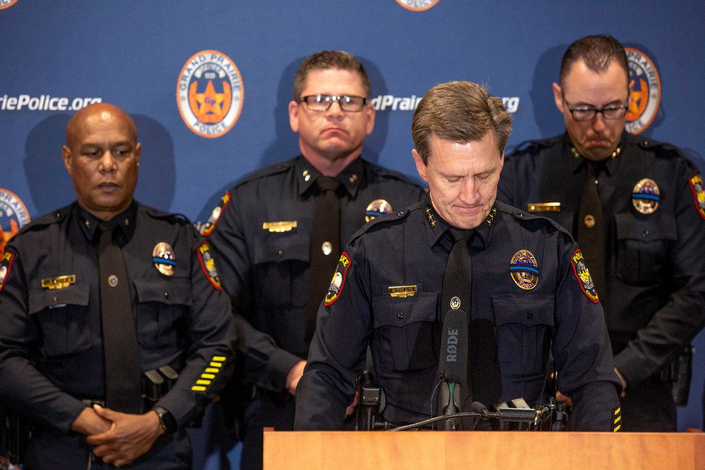 """Grand Prairie Police Chief Steve Dye described A.J. Castaneda not only as a """"model police officer, but just a great human being."""""""