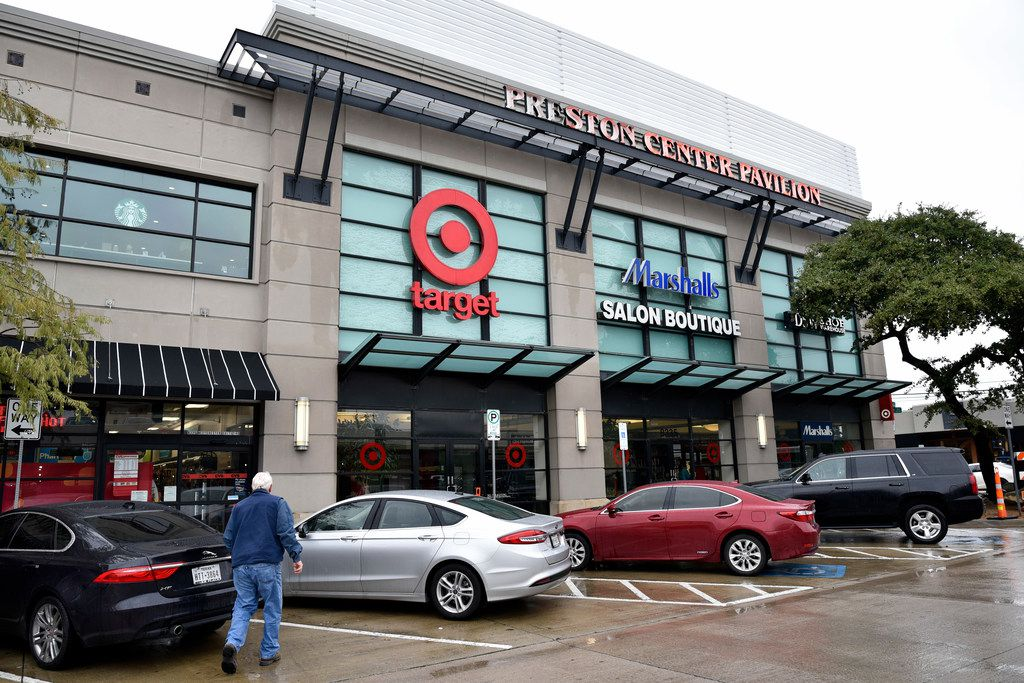 A small urban Target is among retailers in Preston Center Pavilion in Dallas.