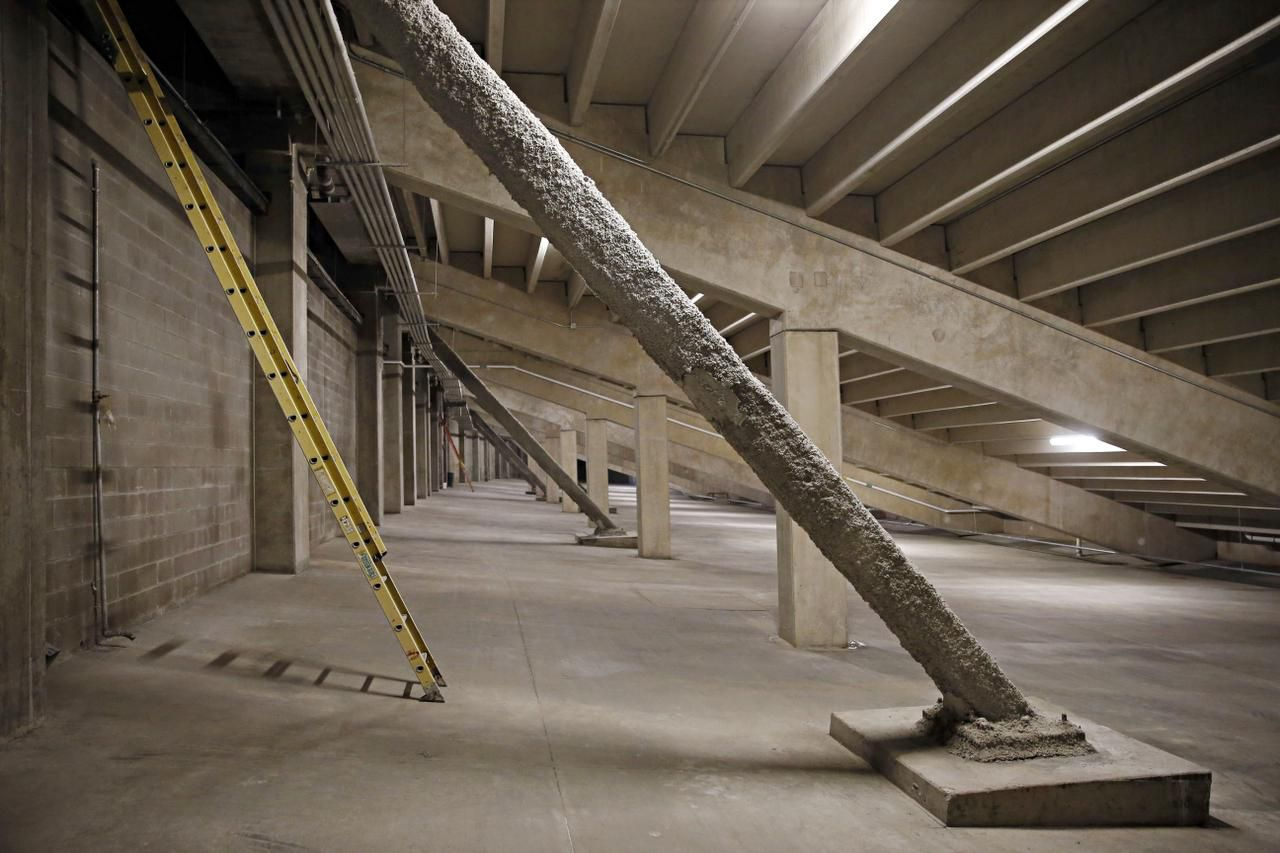 Extra support beams  were added throughout Allen High School's Eagle Stadium as contractors corrected structural defects that were noticed soon after it opened.
