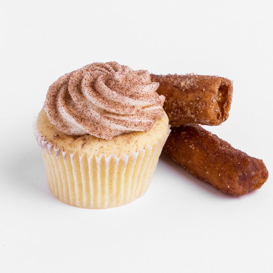 SusieCakes' $3.50 Churro Cupcake is topped with cinnamon sugar.