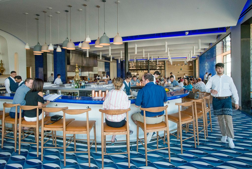 The bar area at Zaytinya, which has been open at The Star in Frisco since February 2018.