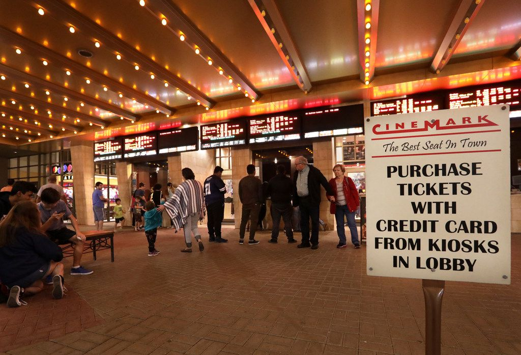 Customers purchase tickets at a Cinemark movie theater in Plano, TX, on Dec. 2, 2017. (Jason Janik/Special Contributor)