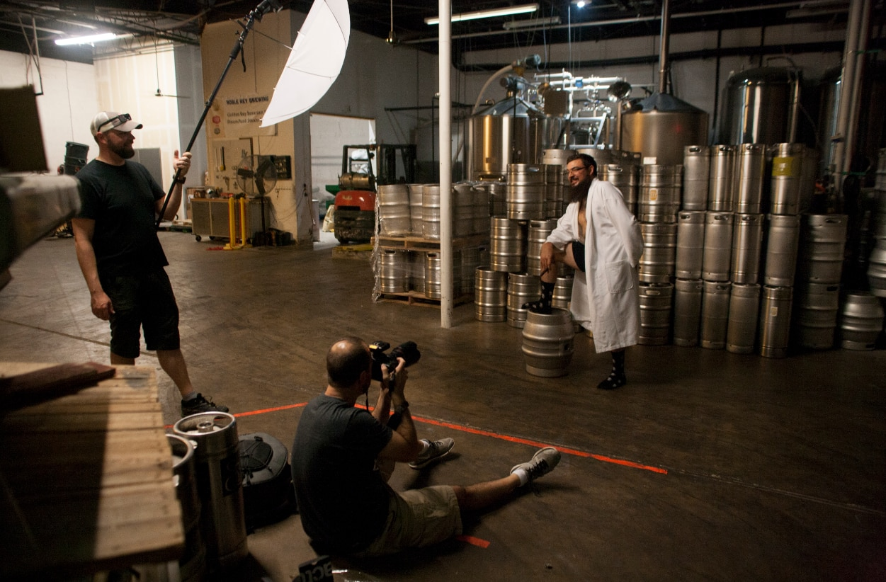 Dirtbag Charities on shoot at Noble Rey Brewing Co.