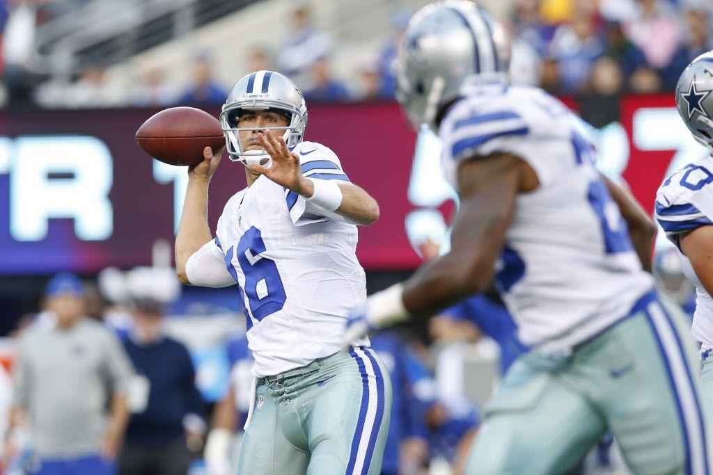 Matt Cassel tuvo un mal debut con los Cowboys. AP