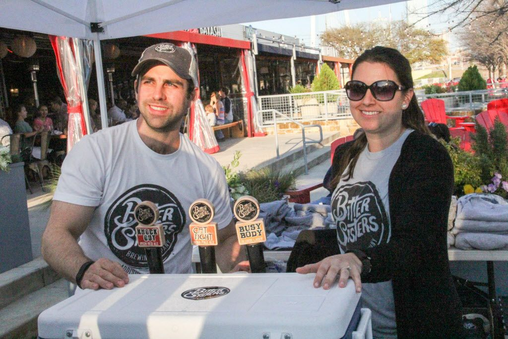 Bitter Sisters Brewing Company were passing out samples of their craft beer at Luckapalooza in Trinity Groves on March 22, 2015.