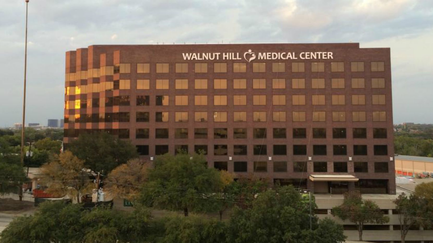 Exterior of the $100 million Walnut Hill Medical Center which opened in 2014 and filed for bankruptcy on June 6, 2017.