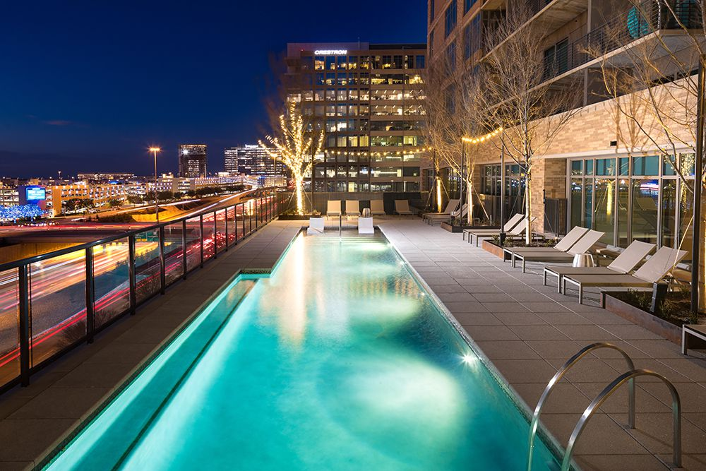 The Kincaid at Legacy apartment tower has two swimming pools.