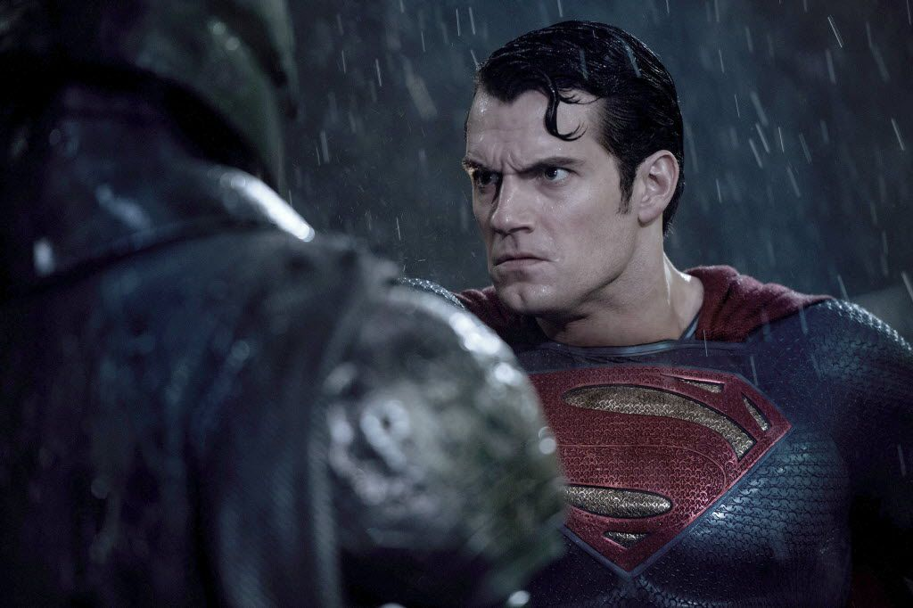 "Henry Cavill as Superman in ""Batman v Superman: Dawn of Justice."""