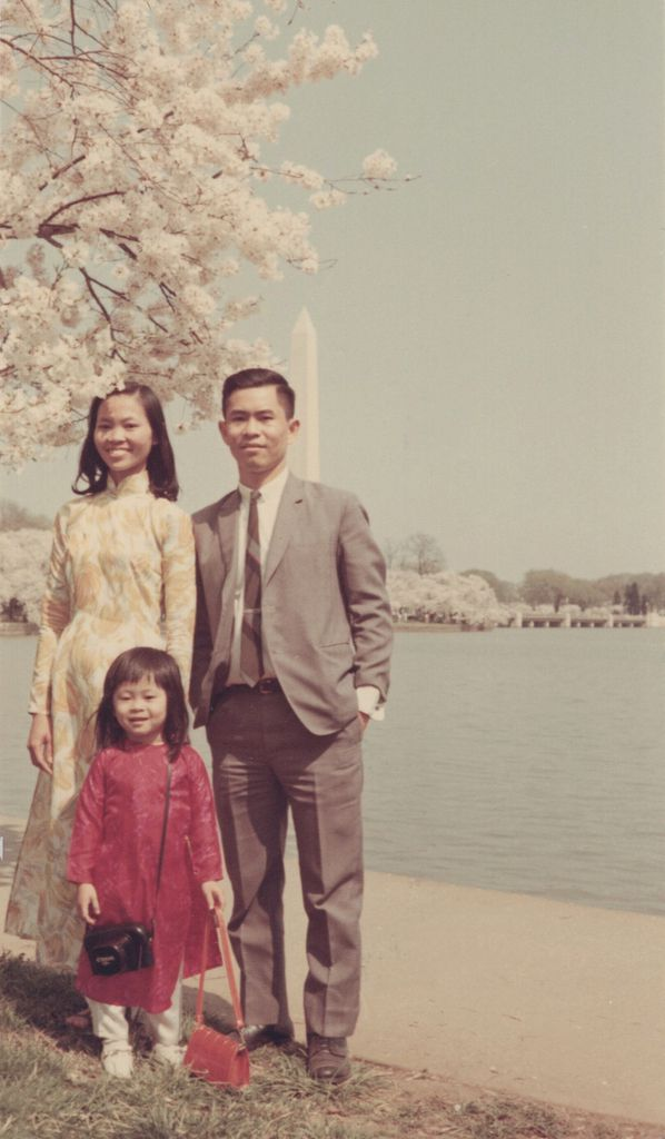 Theresa Nguyen Motter is shown at 3 years old with her parents, Kim and Van Nguyen, in Washington, D.C, in 1968.