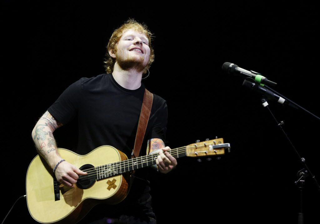 Sheeran was last in the North Texas area when he performed at Verizon Theatre in May. The British singer returned on Saturday to the much larger confines of Toyota Stadium in Frisco. (Vernon Bryant/The Dallas Morning News)