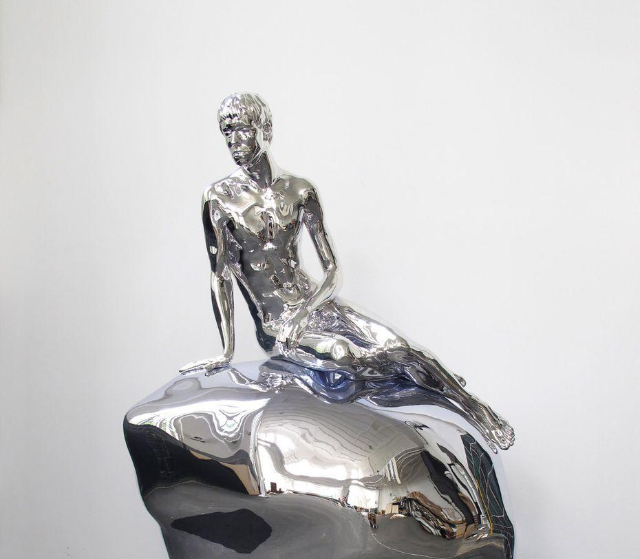 He (Silver) offers a male take on Copenhagen's famous The Little Mermaid statue.