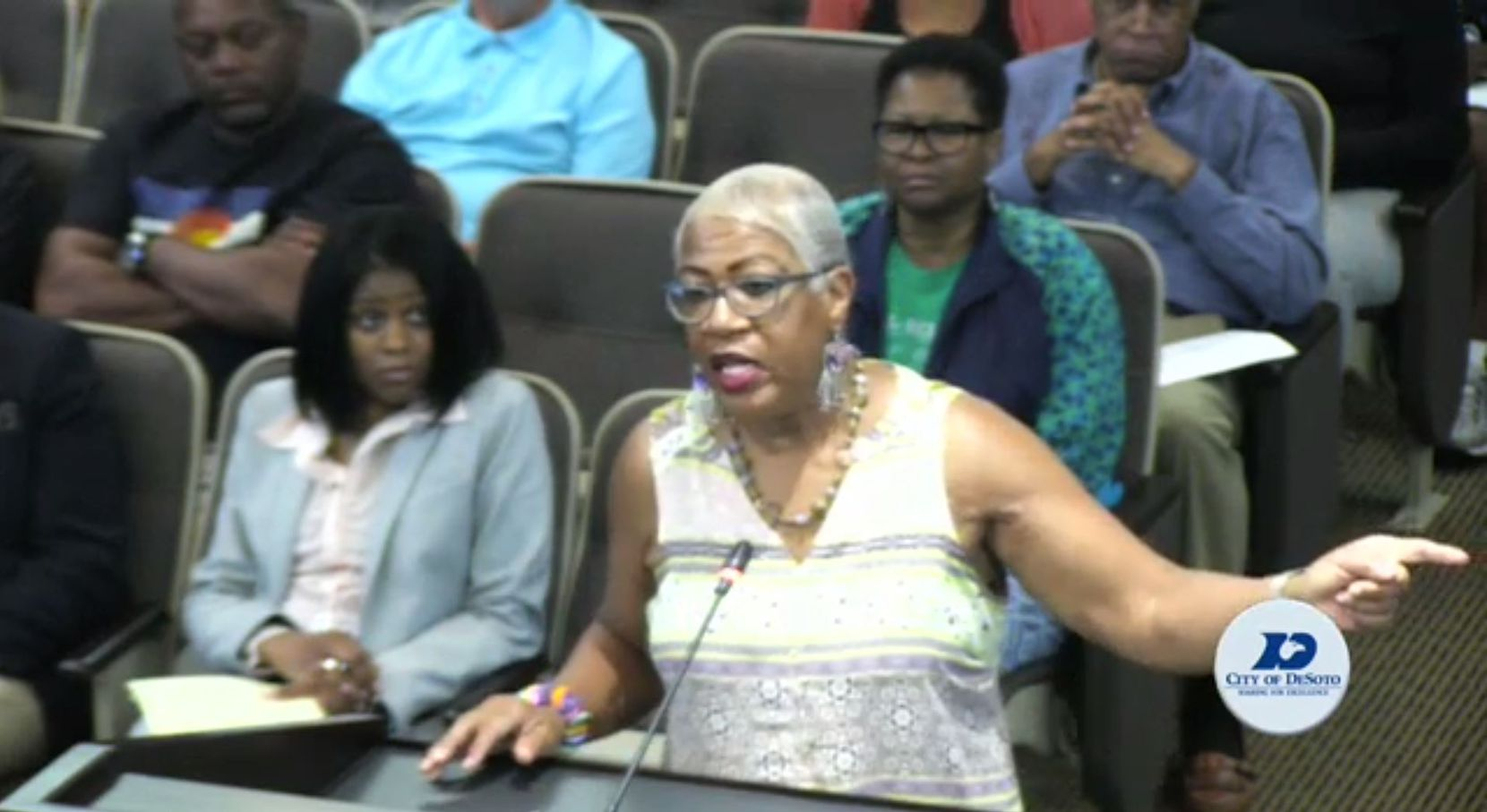 Precious Rita Davis asked the council to bring in an outside law enforcement to investigate the crime.
