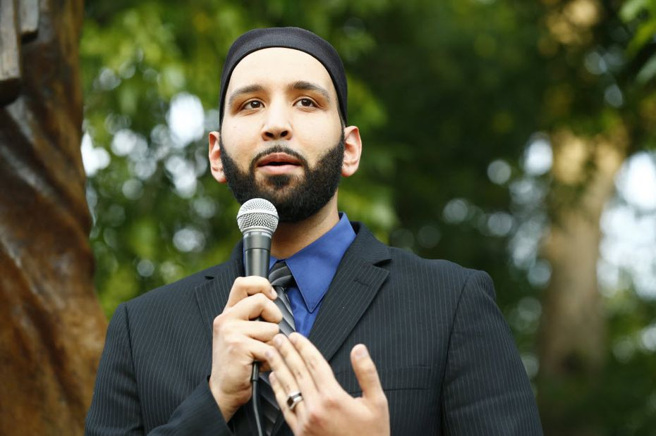 Imam Omar Suleiman of the Yaqeen Institute for Islamic Research in Irving spoke during a Dallas/Fort Worth chapter of the Council on American-Islamic Relations candlelight vigil after the Charleston, S.C., church murders in 2015.
